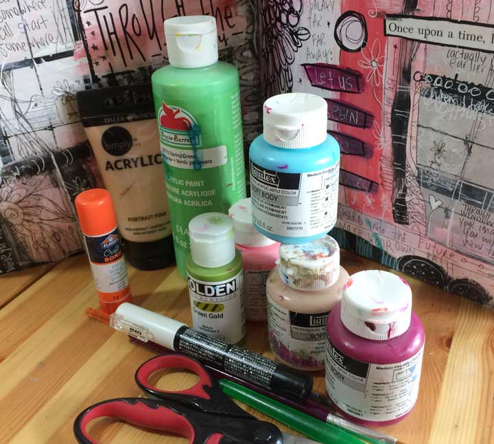 art journal supplies for beginners