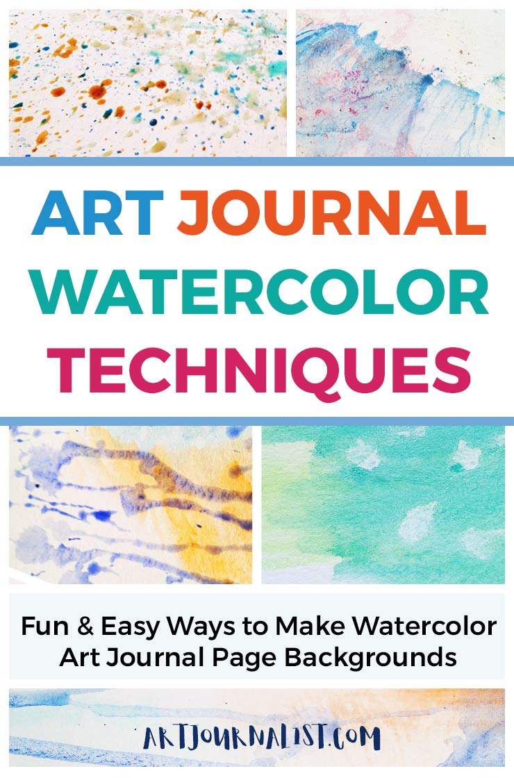 watercolor techniques for art journal page backgrounds