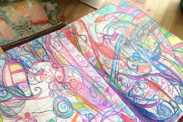 color themed art journal