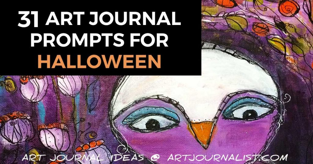 Halloween art journal prompts