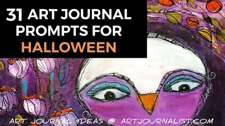 Halloween art journal prompts