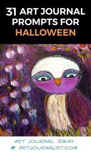 31 Halloween Themed Art Journal Prompts