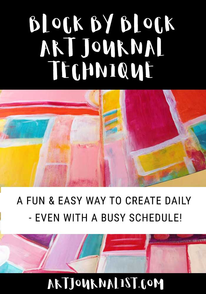 block by block art journaling technique