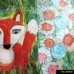 Mixed Media Fox Art Journal Page Video