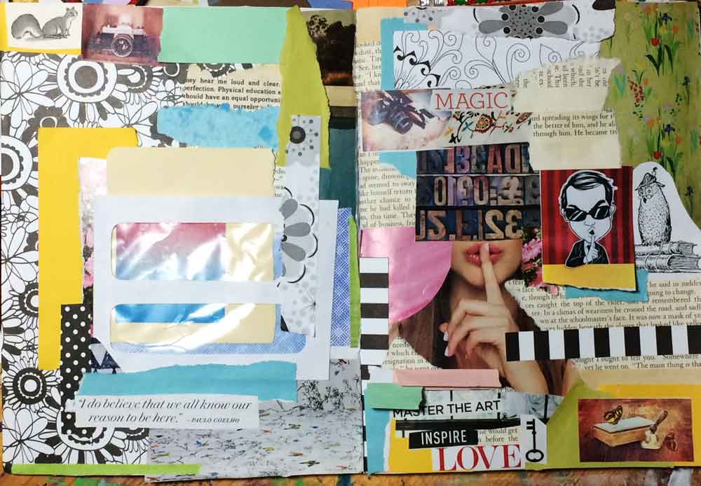 mood board journal page