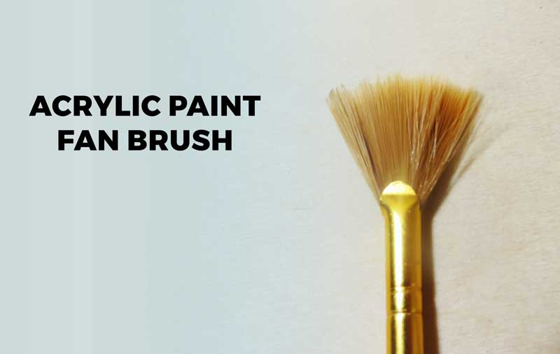 fan style acrylic paint brush