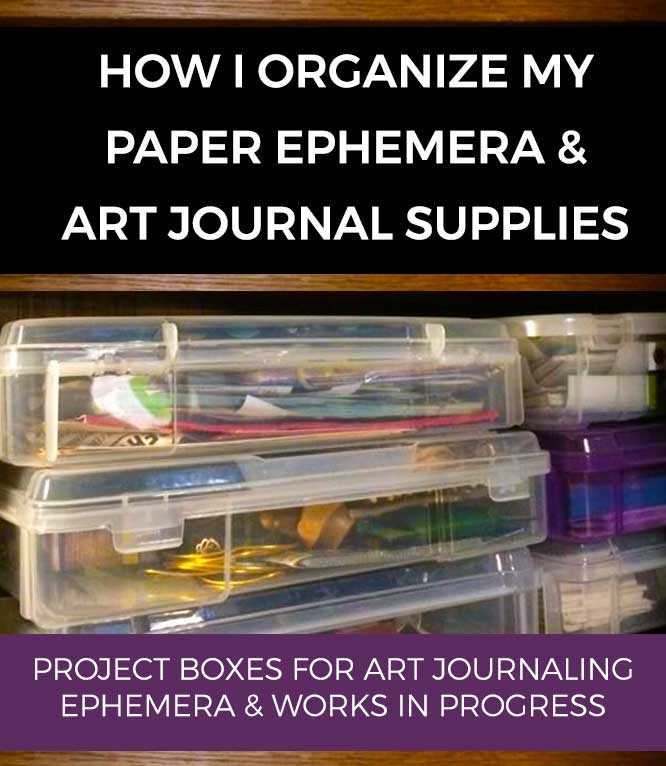 project boxes for beginner art journaling