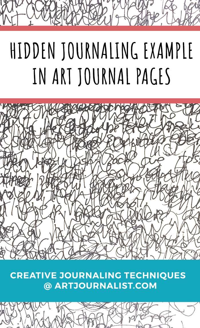 hidden journaling handwriting example