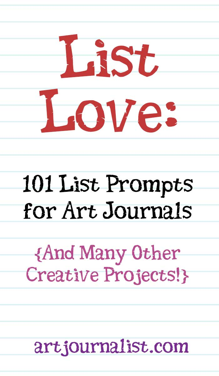 picture relating to Keep a Poem in Your Pocket Printable identified as Listing Enjoy: 101 Listing Prompts For Your Artwork Magazines