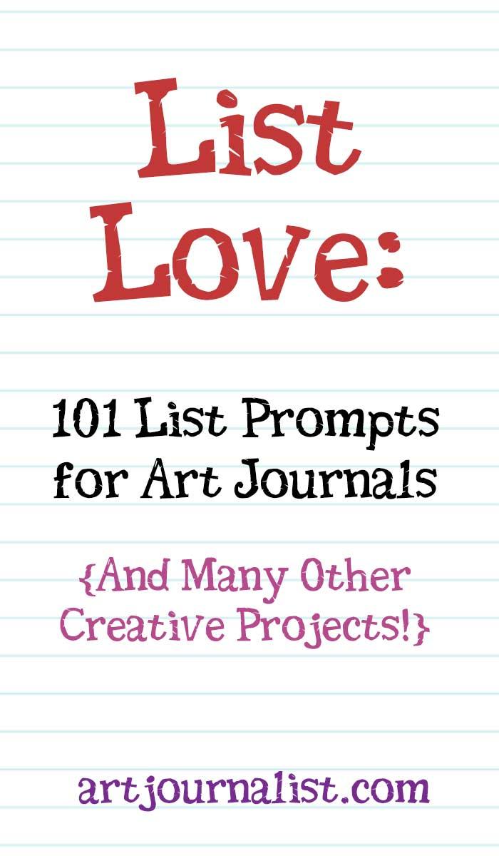 list love art journal prompts