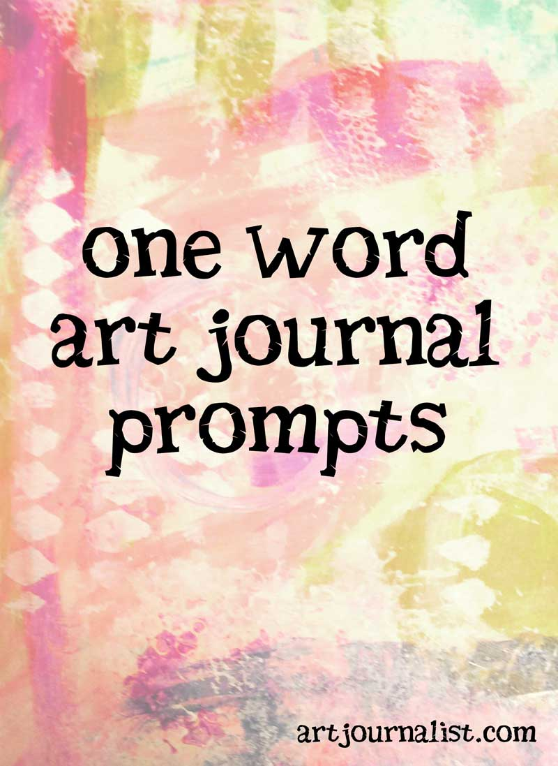 one word journal prompts for art journaling