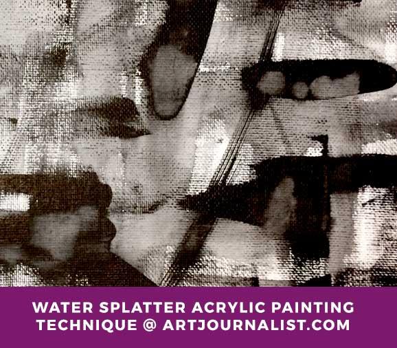 water splatter acrylic paint idea