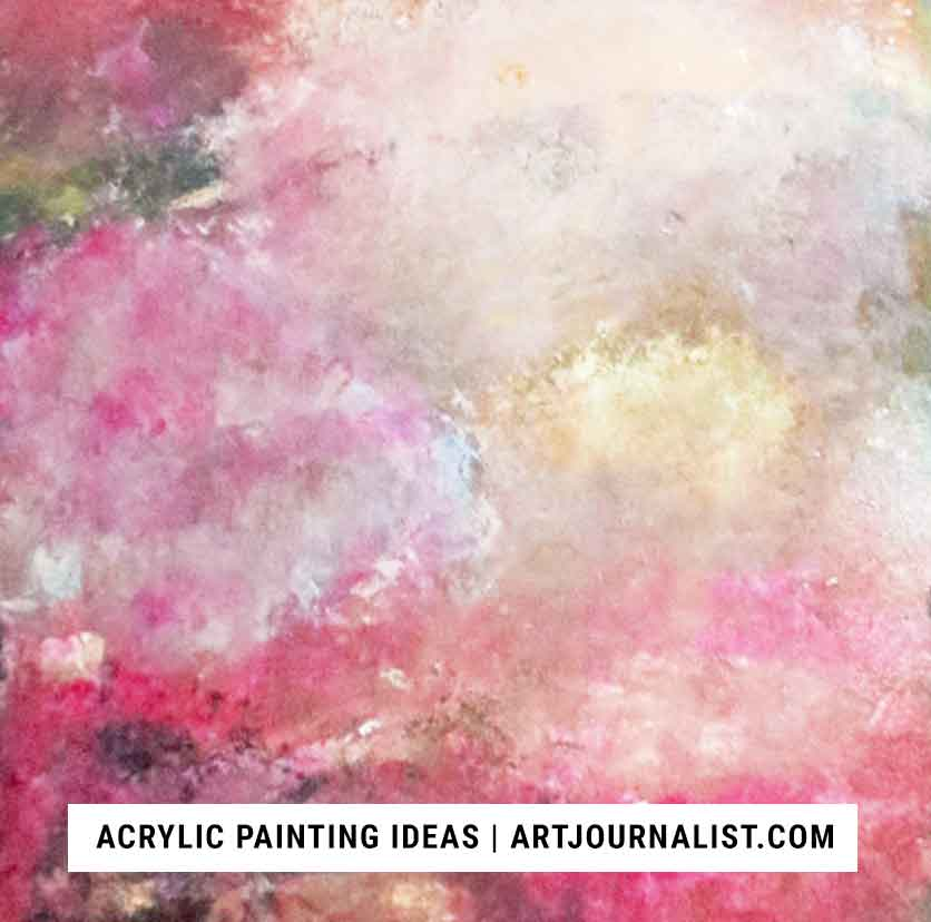 acrylic painting ideas smudging technique