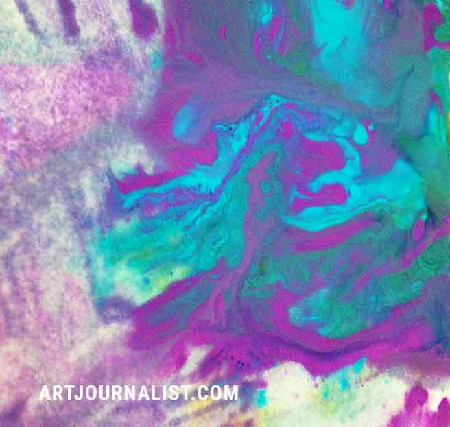 alcohol marbling acrylic paint idea