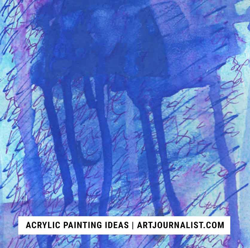 12 Fun Easy Ideas For Acrylic Painting Techniques Artjournalist