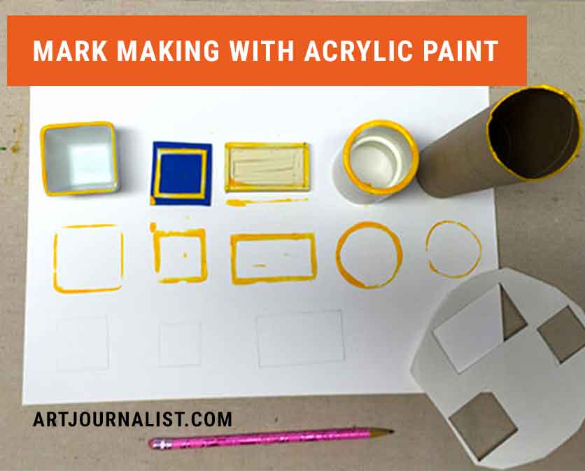 mark making with paint