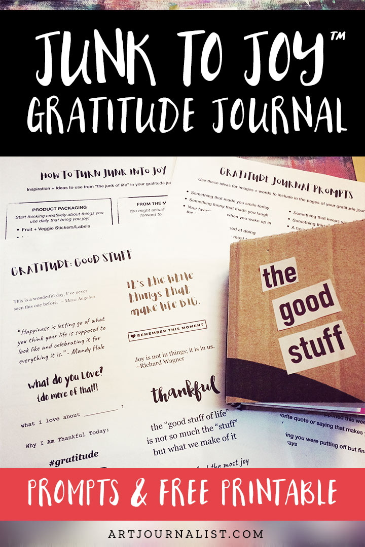 junk to joy gratitude prompts free printable