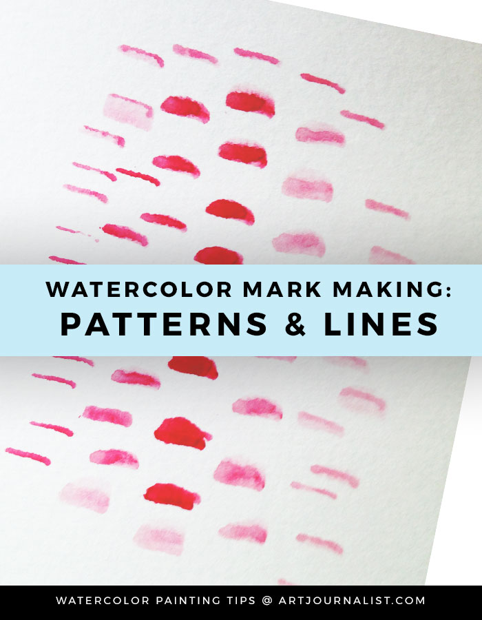 watercolor painting mark making and line pattern examples