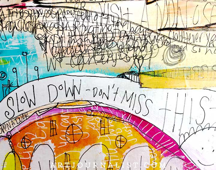 art journal page ideas