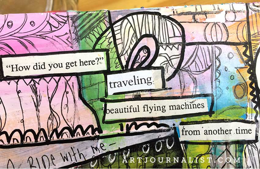 beautiful flying machines art journal page