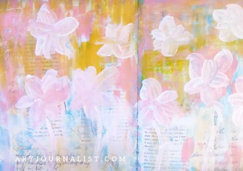 daffodils bottom layer
