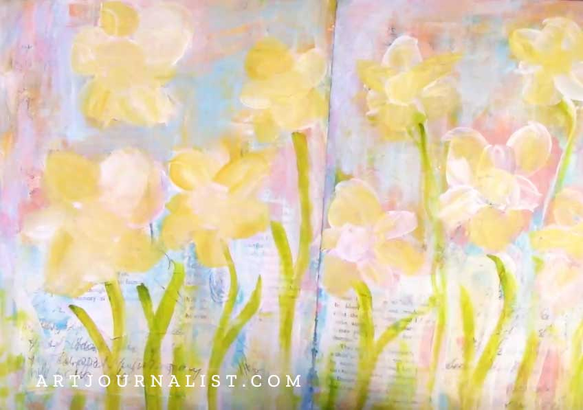 final paint layer daffodils
