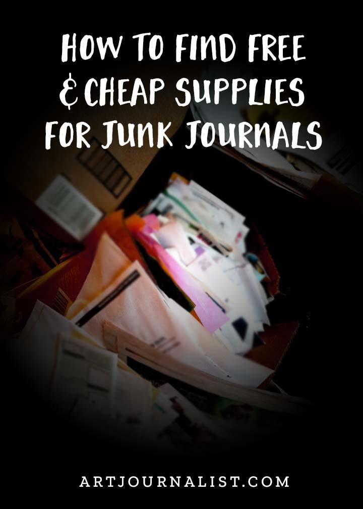 free and cheap junk journal supplies