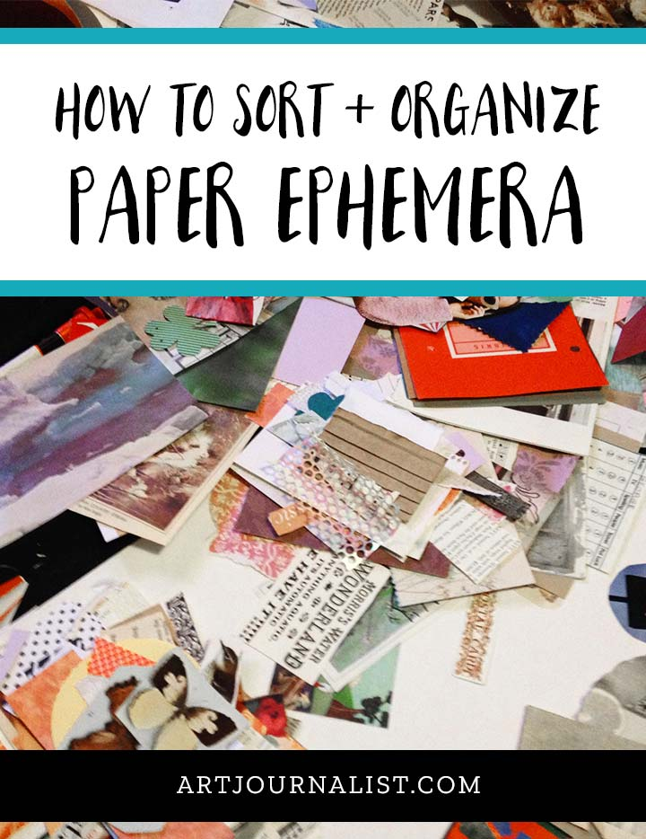 how to organize paper ephemera
