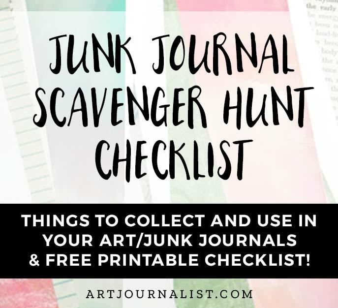 scavenger hunt checklist for ephemera