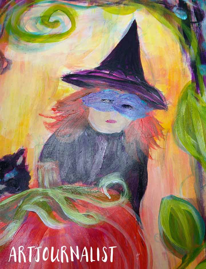 acrylic witch painting
