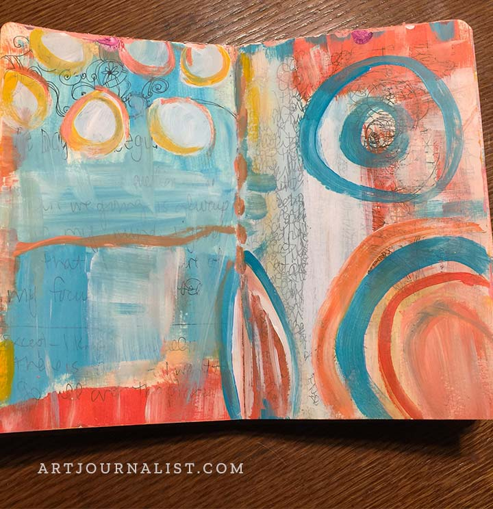 acrylic paint art journal background page