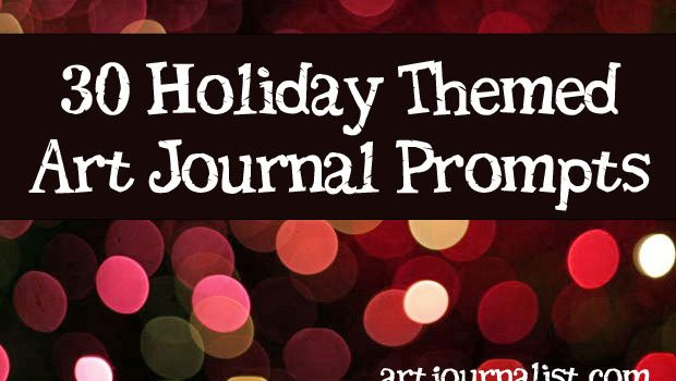 holiday art journal prompts