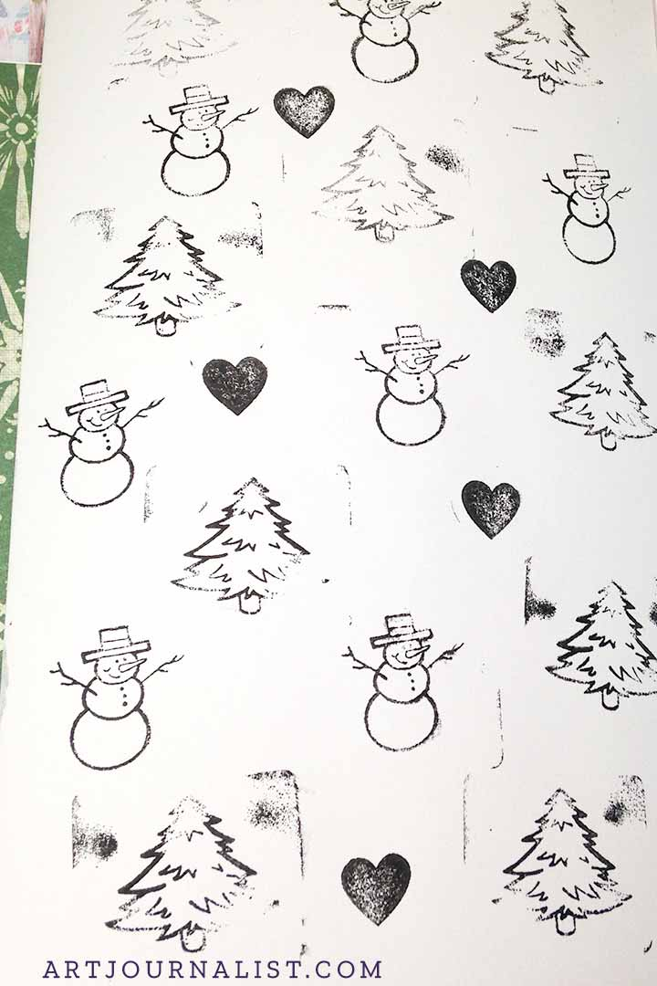 christmas vintage stamp ideas