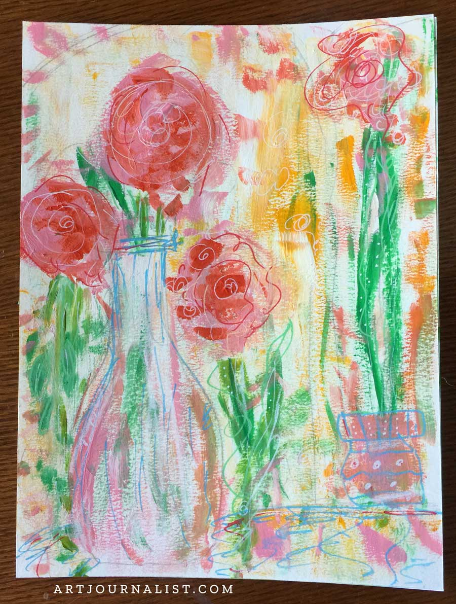 Painting Abstract Flowers With Acrylic Paints Artjournalist