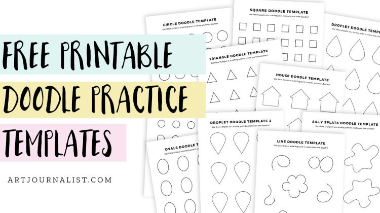 Free Printable Doodle Template Practice Sheets