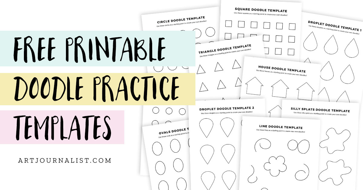 free doodle practice worksheets preview