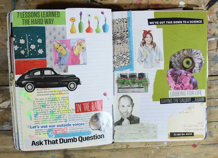 glue book page examples