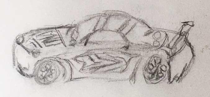 race car sketch