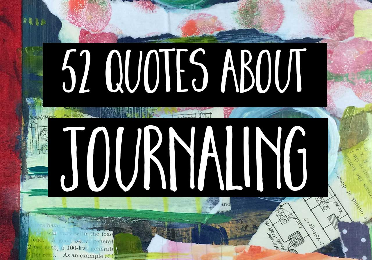 52 quotes about journaling cover image