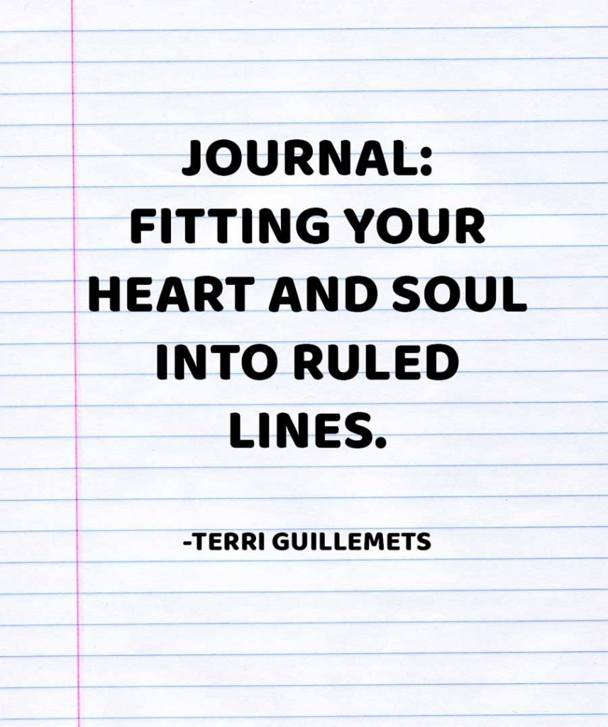 journal quote by Terri Guillemets