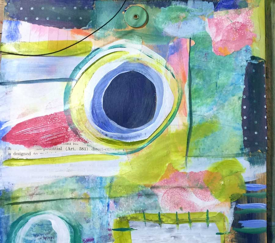 abstract art as example for painting as a diary