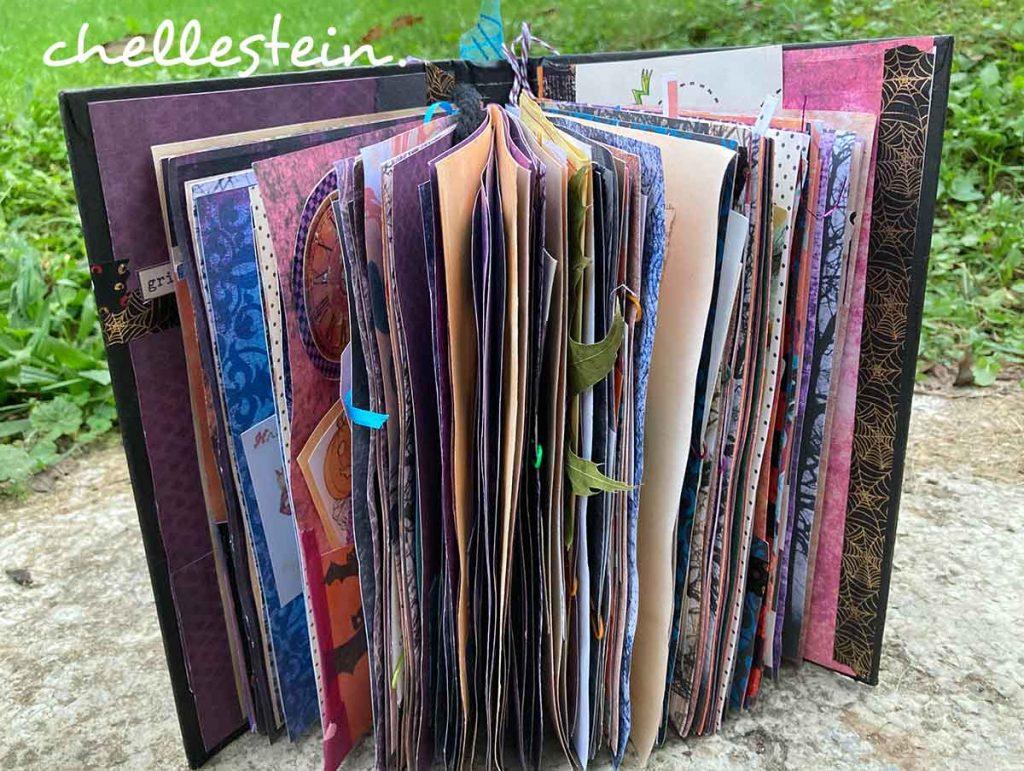 halloween junk journal pages